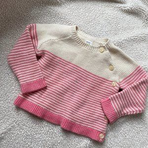 BABY GAP Striped Color Block Pullover Sweater